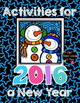 New Years 2016 Activities (Math, Language Arts, Goals, Col