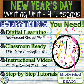 New Year's Writing BUNDLE! - Argumentative, Persuasive, Ex