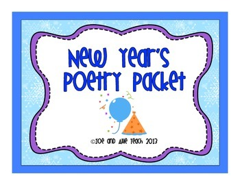 New Year's Acrostic Poetry Packet