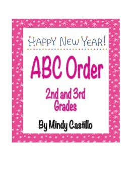 New Year's Activity- ABC Order with January Words