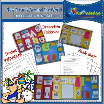 New Years Around the World Lapbook/Interactive Notebook
