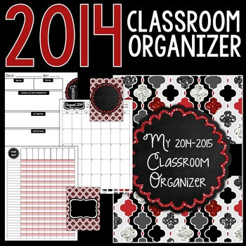 New Years Classroom Organizer for Teachers: 2014-2015
