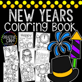 New Years Coloring Book {Made by Creative Clips Clipart}