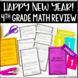 New Year's Math Booklet {4th Grade Grade Math Review: All