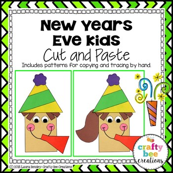 New Years Eve Kids Cut and Paste
