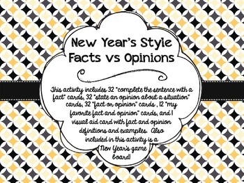 New Year's Fact vs Opinion