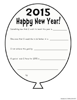 New Year's Goals Packet