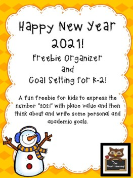 New Year's K-2 Freebie