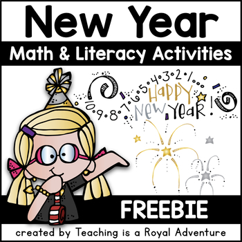Happy New Year Literacy and Math Unit PLUS: Student Resolu