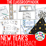 New Year's Math and Literacy Activities {PLUS A FREEBIE DO