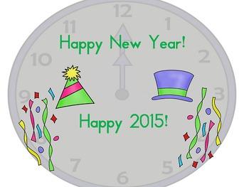 New Year's Power Point - kindergarten, 1st, 2nd, 3rd
