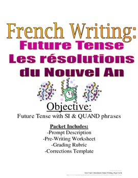New Year's Resolution: Future Tense Writing for French, Ru