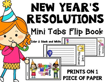 New Year's Resolution Activity: New Year's Mini Book