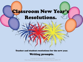 New Year's Resolution Writing Prompts