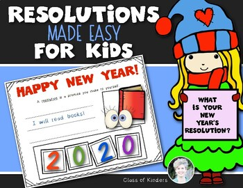 New Year's Resolutions for Kids {Perfect for Kindergarten