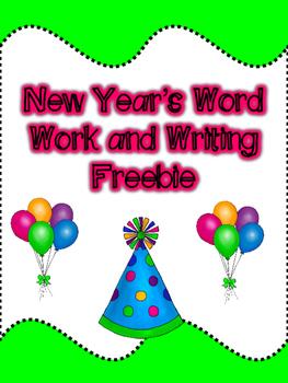 New Year's Word Work/Writing Freebie