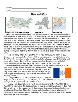 New York City Informational Text
