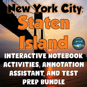 New York City:  Staten Island Interactive Notebook & Lapbo