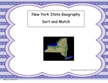New York Geography Vocabulary Sort and Match