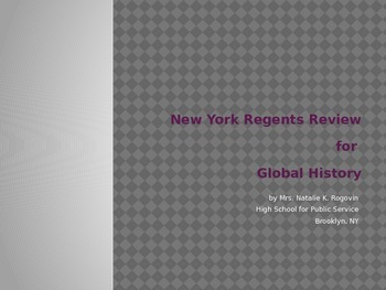 New York Global Regents Practice and Review Guide