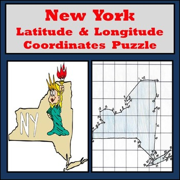 New York Latitude and Longitude Coordinates Puzzle - 47 Po
