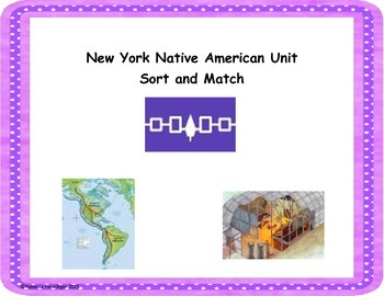 New York Native American Sort and Match
