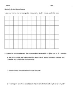 New York State 5th Grade Math End of Module 5 Review PDF W