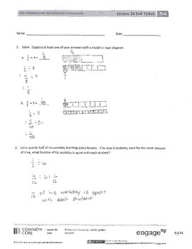 New York State Grade 5 Math Common Core Module 4 Lesson 26