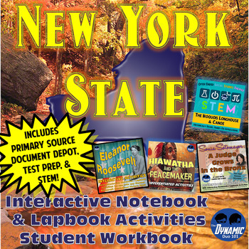 New York State Interactive Notebook and Lapbook Activities