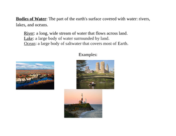 New York State-Specific Bodies of Water Vocabulary for Soc