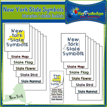 New York State Symbols Interactive Foldable Booklets