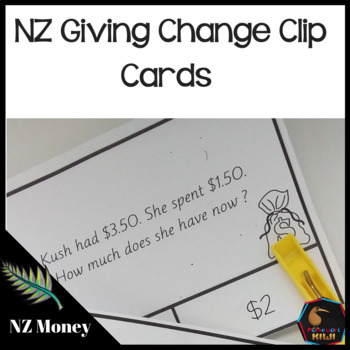 New Zealand Money giving change word problems
