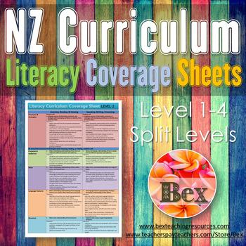 New Zealand Literacy Curriculum Coverage Sheet (Level 1-4
