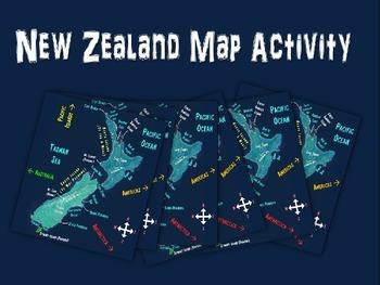 New Zealand Map Activity- fun, engaging, follow-along 25-s