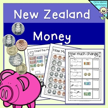 New Zealand Money Worksheets / Printables / Lower Primary