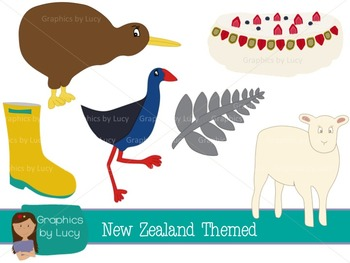 New Zealand Clip Art Set! 20 PNG Images {Personal & Commer
