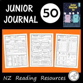 New Zealand Reading - Junior Journal 50 - Worksheets