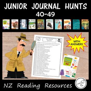 New Zealand Reading - Junior Journal Hunts - 40-49