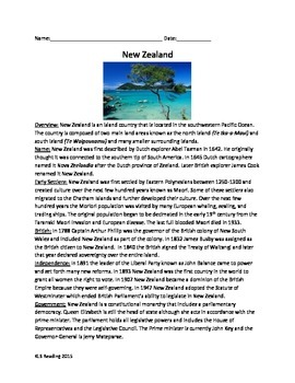 New Zealand - Review Article Facts History Questions Activ