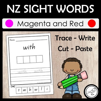 New Zealand Sight Words – 'Trace, Write, Cut and Paste' ac