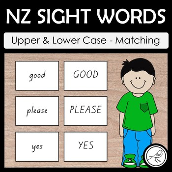 New Zealand Sight Words – Upper and Lower Case Word Match