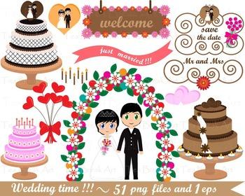 Wedding clip art- Digital Clip Art Graphics 025