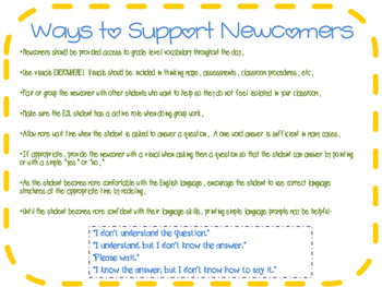 Newcomer Tips