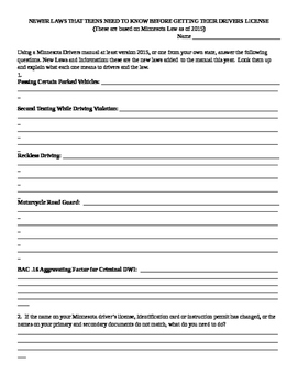 Newer Driving Rules