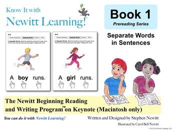 Newitt Book 1 Keynote: Separate Words in Sentences (Macint