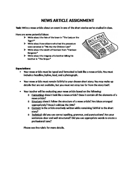 News Article Assignment