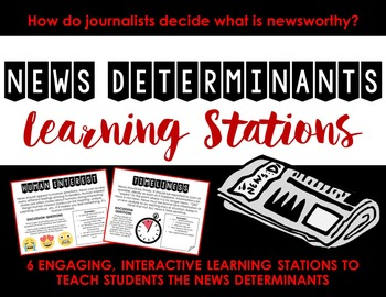 News Determinants Learning Stations -- Journalism or Newsp