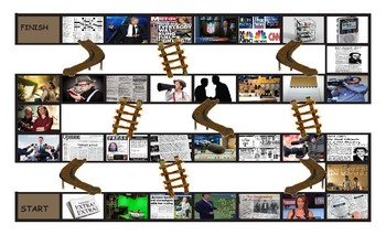 News Media Chutes and Ladders Board Game