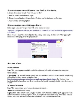 News and Information Source Evaluation Packet