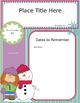 Newsletter Editable Template - Snowman Theme